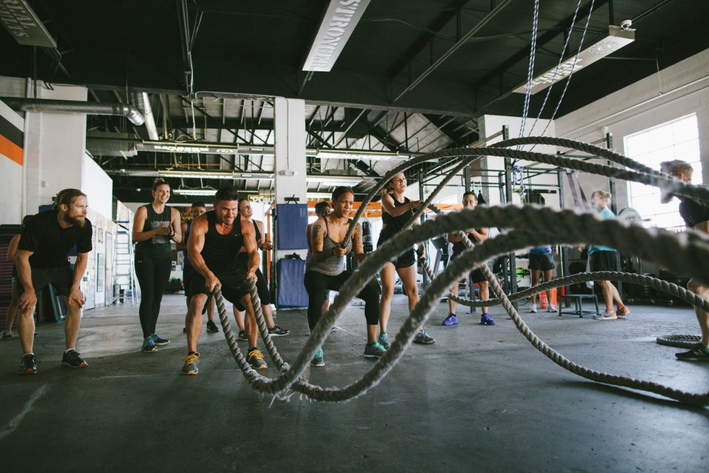 cross training shoes - people perform a workout