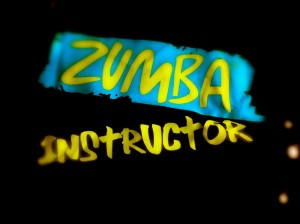 black zumba instructor logo