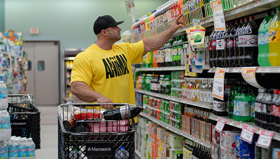 supermarket - man on a budget buying food